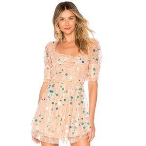 For Love and Lemons Ace Mini Dress, Medium, LN